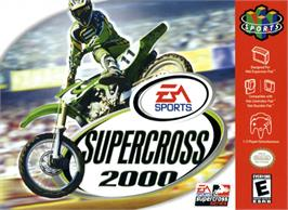 Box cover for Super Cross 2000 on the Nintendo N64.