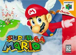 Box cover for Super Mario 64 on the Nintendo N64.