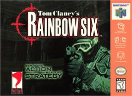 Box cover for Tom Clancy's Rainbow Six on the Nintendo N64.