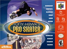 Box cover for Tony Hawk's Pro Skater on the Nintendo N64.