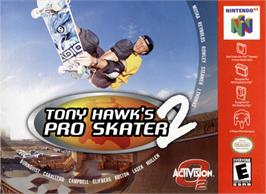 Box cover for Tony Hawk's Pro Skater 2 on the Nintendo N64.