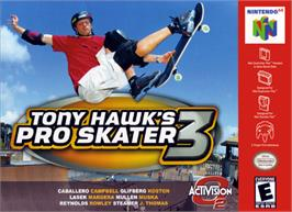 Box cover for Tony Hawk's Pro Skater 3 on the Nintendo N64.