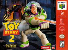 Box cover for Toy Story 2: Buzz Lightyear to the Rescue on the Nintendo N64.
