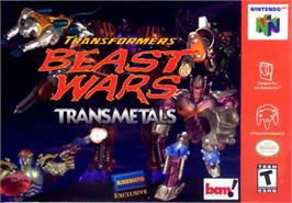 Box cover for Transformers: Beast Wars Transmetals on the Nintendo N64.