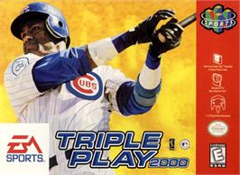 Box cover for Triple Play 2000 on the Nintendo N64.