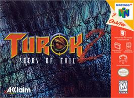 Box cover for Turok 2: Seeds of Evil on the Nintendo N64.