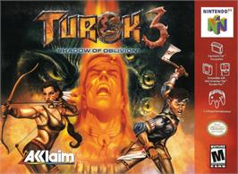 Box cover for Turok 3: Shadow of Oblivion on the Nintendo N64.