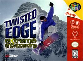 Box cover for Twisted Edge: Extreme Snowboarding on the Nintendo N64.