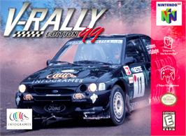Box cover for V-Rally Edition 99 on the Nintendo N64.