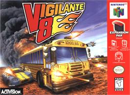 Box cover for Vigilante 8: 2nd Offense on the Nintendo N64.
