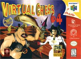 Box cover for Virtual Chess 64 on the Nintendo N64.