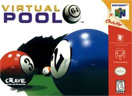 Box cover for Virtual Pool 64 on the Nintendo N64.