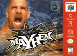 Box cover for WCW Mayhem on the Nintendo N64.