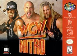 Box cover for WCW Nitro on the Nintendo N64.