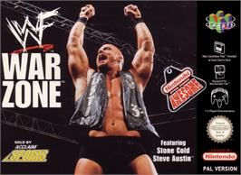 Box cover for WWF War Zone on the Nintendo N64.