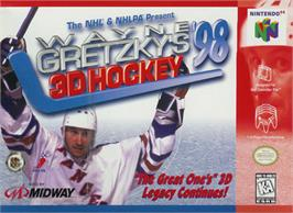 Box cover for Wayne Gretzky's 3D Hockey '98 on the Nintendo N64.