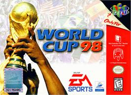 Box cover for World Cup 98 on the Nintendo N64.