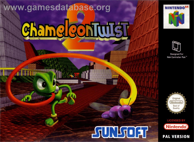 Box cover for Chameleon Twist 2 on the Nintendo N64.