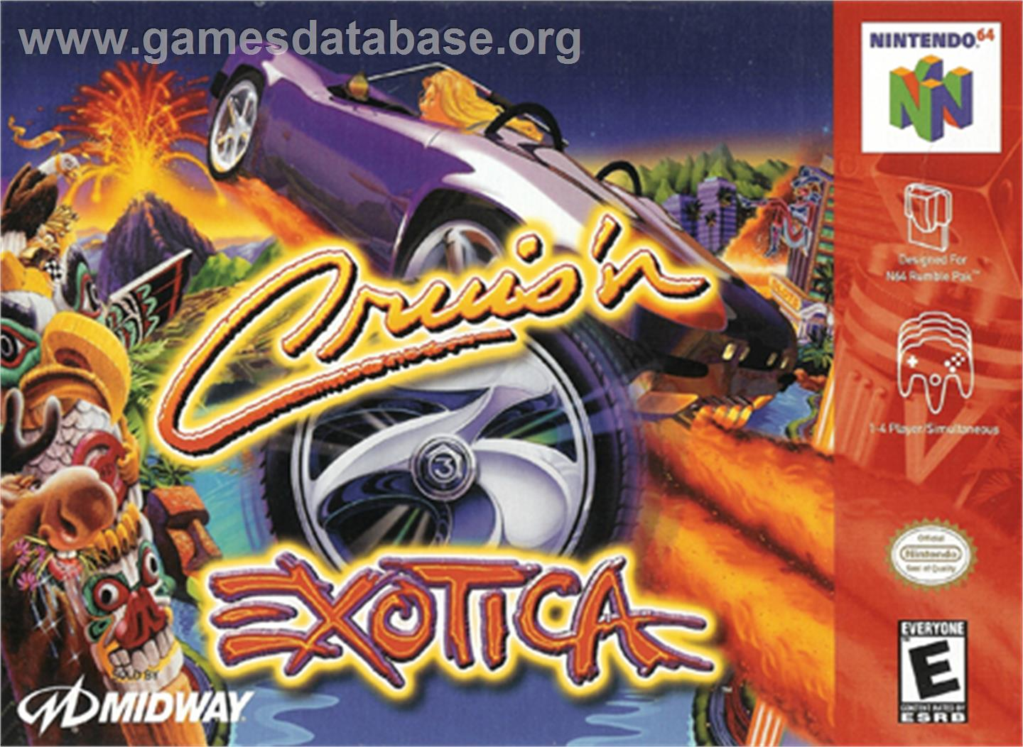Cruis'n Exotica - Nintendo N64 - Artwork - Box
