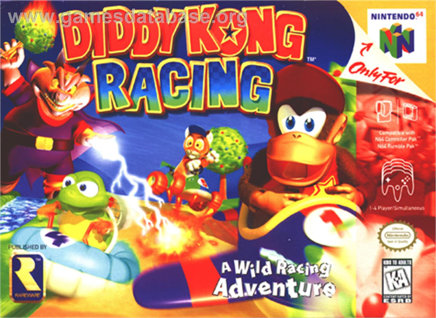 racing year 1997 tosec diddy kong racing category racing mame n a game