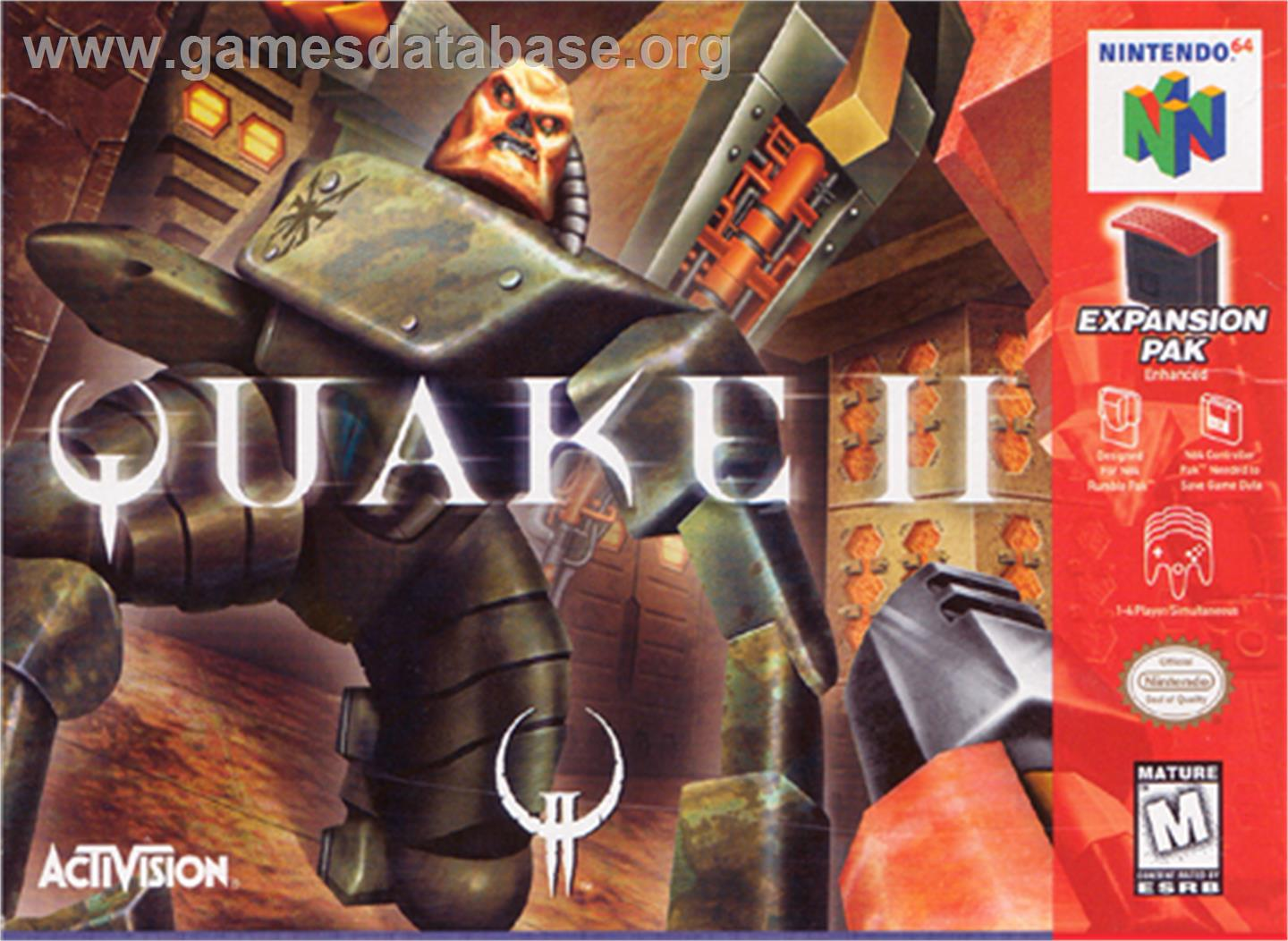 Box cover for Quake 2 on the Nintendo N64.