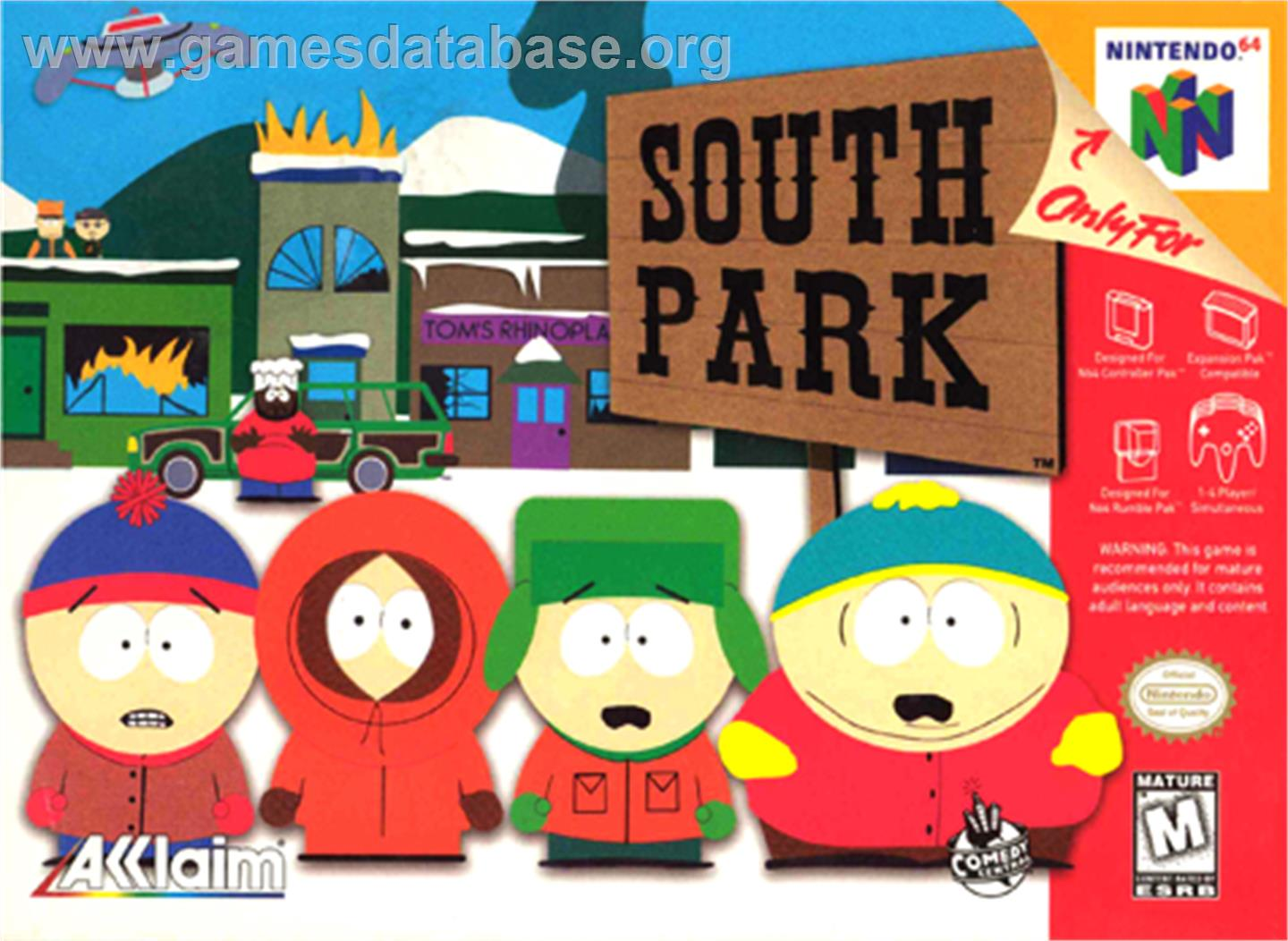 South Park - Nintendo N64 - Artwork - Box