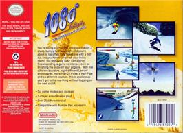 Box back cover for 1080° Snowboarding on the Nintendo N64.