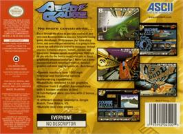 Box back cover for AeroGauge on the Nintendo N64.