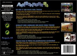 Box back cover for Air Boarder 64 on the Nintendo N64.