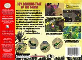 Box back cover for Army Men: Air Combat on the Nintendo N64.