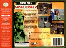 Box back cover for Army Men: Sarge's Heroes 2 on the Nintendo N64.