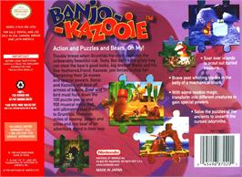 Box back cover for Banjo-Kazooie on the Nintendo N64.