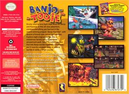 Box back cover for Banjo-Tooie on the Nintendo N64.