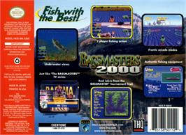 Box back cover for Bassmasters 2000 on the Nintendo N64.