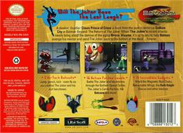 Box back cover for Batman Beyond: Return of the Joker on the Nintendo N64.