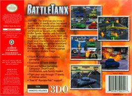 Box back cover for BattleTanx on the Nintendo N64.