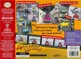 Box back cover for Beetle Adventure Racing on the Nintendo N64.