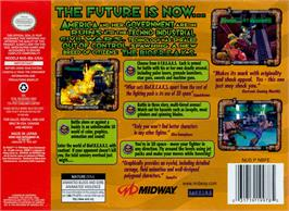 Box back cover for BioFreaks on the Nintendo N64.