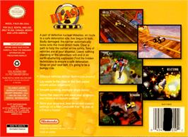 Box back cover for Blast Corps on the Nintendo N64.
