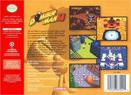 Box back cover for Bomberman 64 on the Nintendo N64.