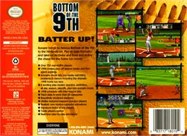 Box back cover for Bottom of the Ninth on the Nintendo N64.