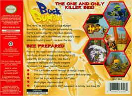 Box back cover for Buck Bumble on the Nintendo N64.