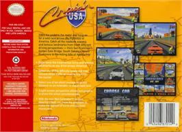 Box back cover for Cruis'n USA on the Nintendo N64.