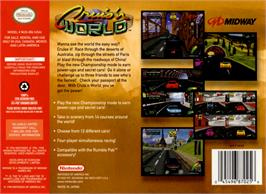 Box back cover for Cruis'n World on the Nintendo N64.