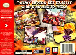 Box back cover for Destruction Derby 64 on the Nintendo N64.