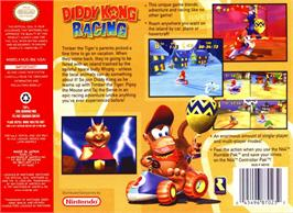 Box back cover for Diddy Kong Racing on the Nintendo N64.