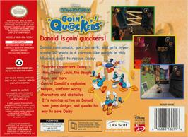 Box back cover for Donald Duck: Goin' Quackers on the Nintendo N64.