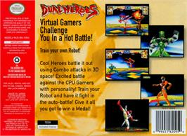 Box back cover for Dual Heroes on the Nintendo N64.