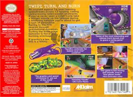 Box back cover for Extreme G on the Nintendo N64.