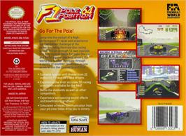 Box back cover for F1 Pole Position 64 on the Nintendo N64.
